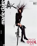 超模刘雯登<嘉人>12月暨16周年刊封面