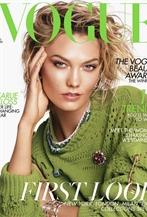 超模Karlie Kloss亮相英國版VOGUE八月號封面