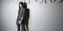 何穗受邀2019春夏紐約時裝周Tom Ford秀場頭排看秀