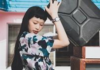 魏安琪拍攝戴維德珀手表廣告大片
