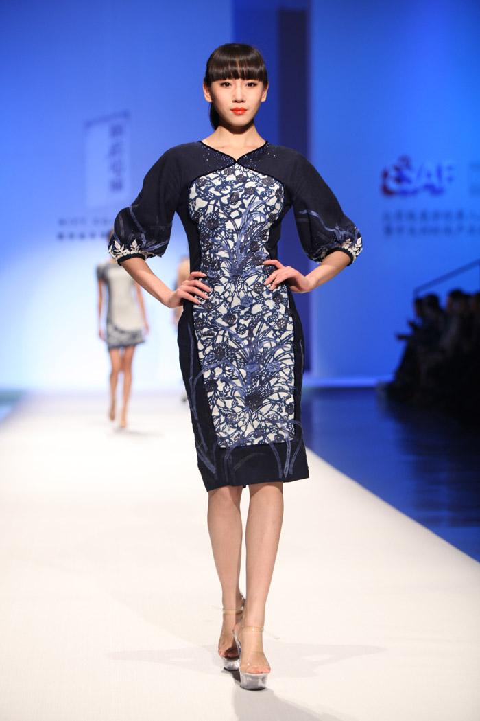 蓝_模特中国