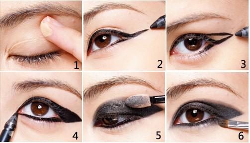 三角形眼线不分国籍攻占欧美秋彩形象妆,连韩女星也吹起猫眼风,以性感