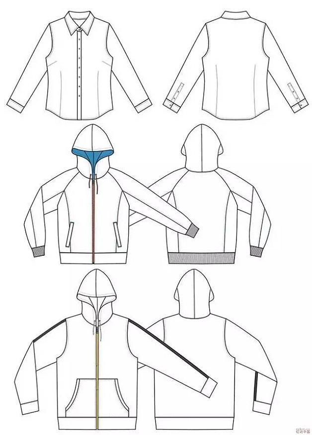落肩袖外套制版结构图