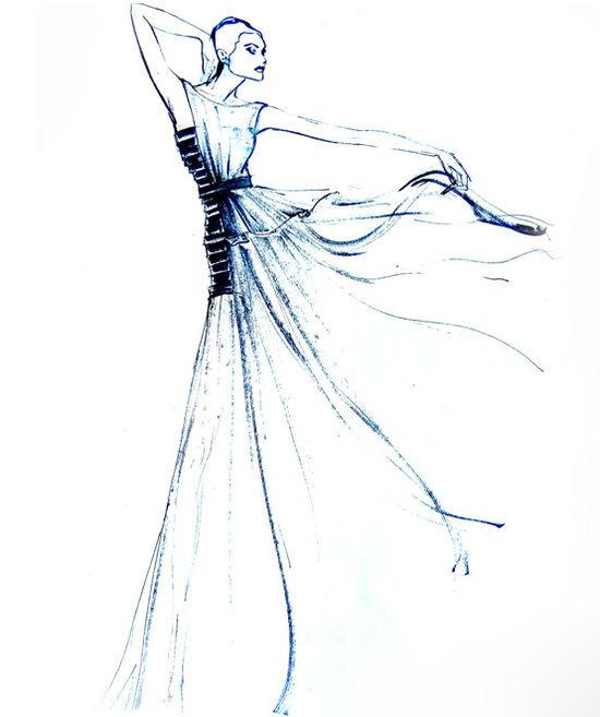 服装设计人体模特; tom dong 高级时装发布会;
